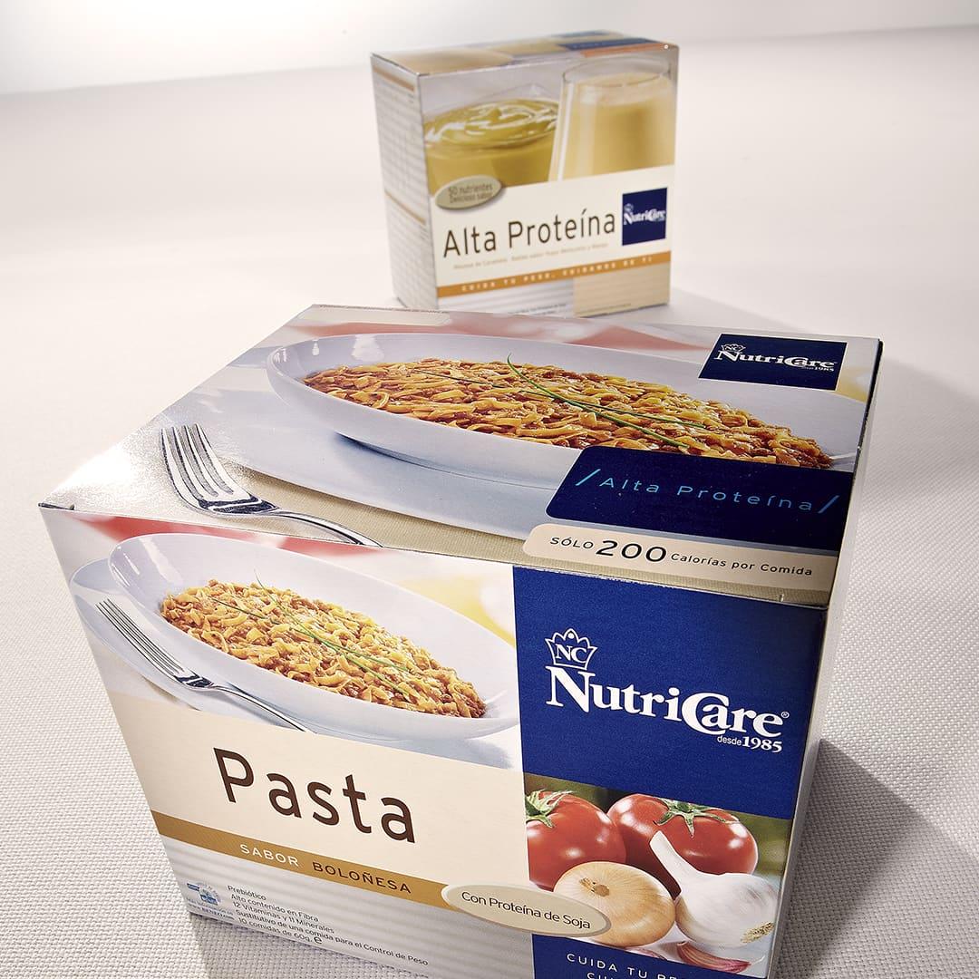 aplicacion grafica packaging nutricare